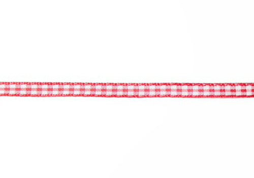 Gingham ruitjes rood/wit