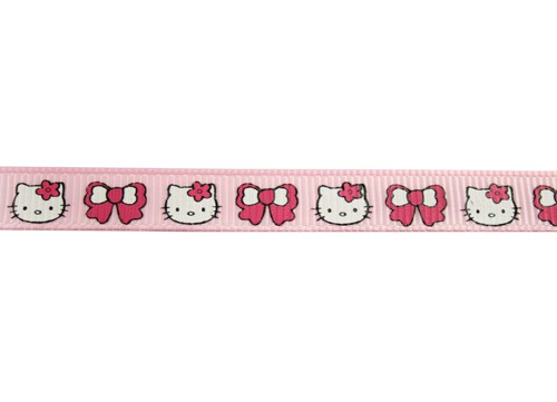 Roze grosgrain met kitty